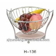 Placa de plástico redonda de frutas, cesta de doces, suporte de frango