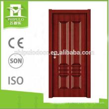 2018 puerta de entrada de diseño compuesto puerta de madera de melamina frontal
