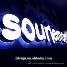 3D conduziu o canal iluminado das letras sinais iluminados das letras