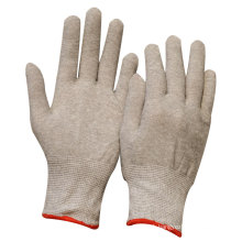 NMSAFETY anti dust use 13g knitted nylon shell working gloves