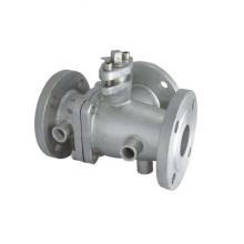 Jacket / isolamento / preservação do calor válvula de esfera de aço inoxidável 2PC