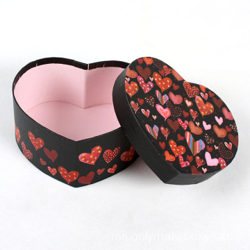 Custom Heart Bentuk Handmade Candy Chocolate Box