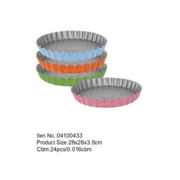 D28cm colorful coating round cake pan