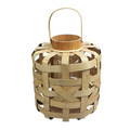 Medium wide bamboo weaving storm lantern