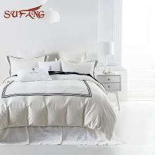 Классический отель белый египетского хлопка комплект постельных принадлежностей бальфура