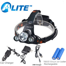 USB Cable Car Charger Rechargeable Waterproof 6000 Lumen Led Headlamp