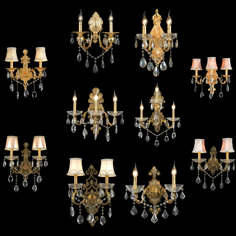 Classical decorative crystal wall lamp