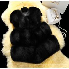 Nueva chaqueta de alto grado de la capa de piel del chaleco de la piel del Faux de 2016 mujeres del abrigo del invierno