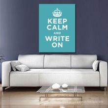 Mantenha Clam e escreva em palavras da arte da parede