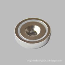 Countersunk Hole Neodymium Round Base Magnet N35