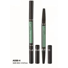 Doppelköpfe Aluminium Augenbrauen Bleistift Rohr