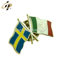 Shuanghua factory custom hard enamel metal flag pin