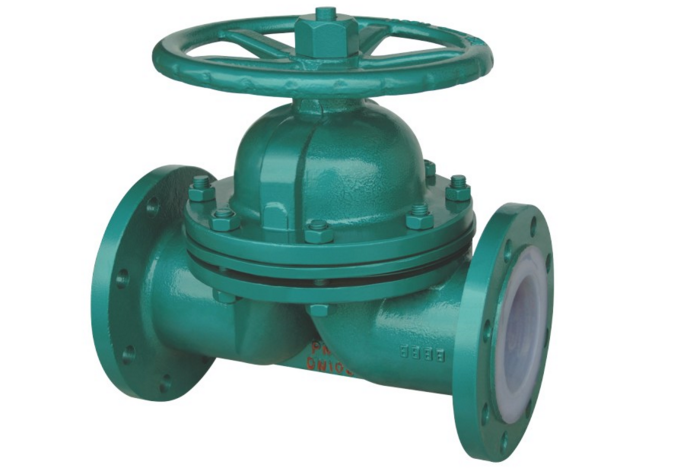 Fluorine-filled diaphragm valve