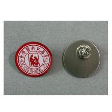 Offset impressão emblema, aço inoxidável Lapel Pin (GZHY-YS-016)
