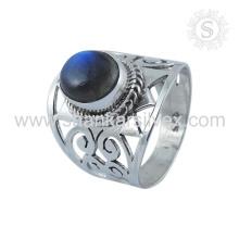 Unique design 2017 925 sterling silver ring labradorite gemstone ring silver jewellery wholesale supplier