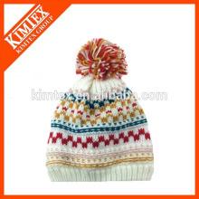 2016 mode hiver Ladies acrylique iseland tricoté chapeau de câble