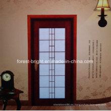 Modelos de puertas de madera de caoba con vidrio
