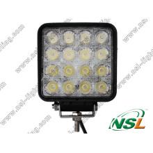 Lampe de travail à LED 48W Lumière de conduite à LED 10-30V Lampe de travail à LED automatique Lumière de barre à LED