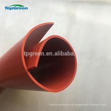 Hest resistente rot-weiße transparente Silikon-Gummifolie Rolle