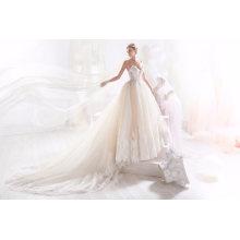 Новейший Бисером Мяч Выпускного Вечера Свадебное Платье