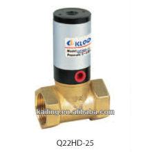 Válvula neumática de émbolo para líquido neutro y gaseosa