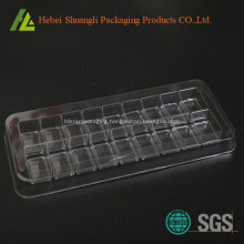 Clear transparent plastic candy insert tray