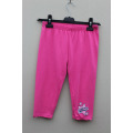 Girl's Cotton Spandex Knitted Solid Pant