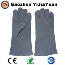 Cow Split cuero de seguridad de soldadura mano guantes de protección