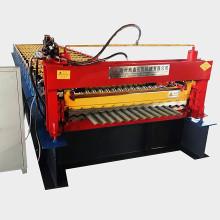 Rouleau de tôle ondulée en aluminium formant la machine