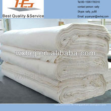 Qualität Fabrik Preis ungebleicht Poly Baumwolle grau Hotm Stoff