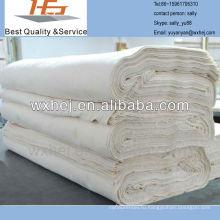 высокое качество цена завод небеленой поли хлопок серый ткань hotm