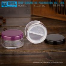 Pot de poudre libre de haute cosmétique claire HJ-PT20 20g grande qualité g 20 populaire et hot-vente