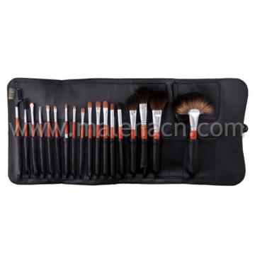 18 قطع المهنية ماكياج التجميل فرشاة مع الأسود التجميل حقيبة