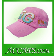 3D embroidery washed cotton cap