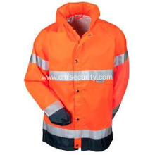 High Visibility Orange Waterproof Breathable  Jacket