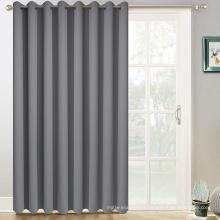 Grey Sliding Door Curtains