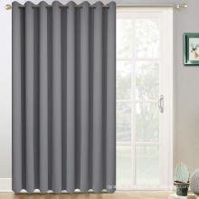 Cortinas cinza para porta deslizante