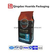 Logo de impresión de muestra Bolsa de envasado de café cuadrado inferior