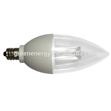 ul aprovado conduziu a luz da vela do bulbo C37 conduziu a luz da vela & conduziu a luz da vela dimmable & 4.5w conduziu a luz da vela