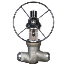 Válvula de globo de bonete con sello de presión