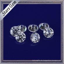 Wunderbare Sterne schneiden weiße Farbe 3mm Runde CZ Steine Zirkonia für Schmuck machen