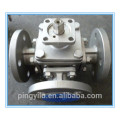 stainless steel 304 316 321 three way flange ball valve china supplier