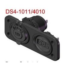 Cargador dual impermeable de los zócalos del poder del puerto de USB con el metro del voltaje del voltímetro digital del LED para Carvan Marine Carvan del coche