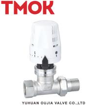 Válvula termostática de latão niquelado DN15