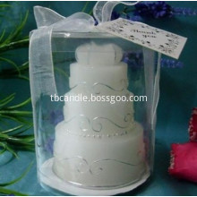Tealight Candle Birthday Cake Shape Design
