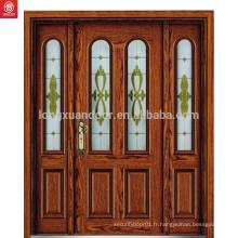 Conception de sculpture sur porte en bois de porte principale