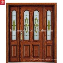 Porta principal de madeira da porta de porta principal