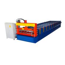 760 galvanisierte Stahlplatten-Stahlblech- und Eisendach- / Wandfarbstahlfliesen-Rolle, die Maschine bildet