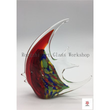 Big Red Fish Glass Sculpture