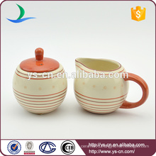 Cute Style Ceramic Sugar Bowl And Milk Pot For Tea And Coffee